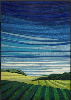 Sold Fiber Art - Lubbesmeyer Art Studio & Gallery Midday Sky, Fiber, x Patchwork Quilting, Art Quilting, Quilt Art, Quilting Projects, Quilting Designs, Landscape Art Quilts, Landscape Designs, Landscape Drawings, Landscape Pictures