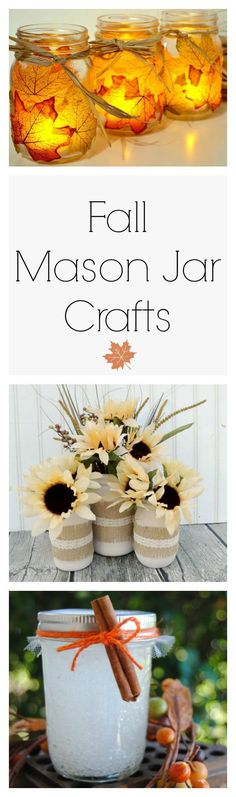 Mason jars are so versatile! Take a look at some of these fall craft ideas!