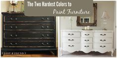 The Two Hardest Colors to Paint Furniture | http://www.lostandfounddecor.com/how-tos/the-two-hardest-colors-to-paint-furniture/