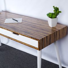 Mid Century Modern Two-Drawer Desk. Large by FlintAlleyFurniture Mid Century Desk, Mid Century Art, Desk With Drawers, Retro Chic, Home Office, Mid-century Modern, Camp Fire, Time Travel, Wood