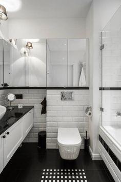 Mała łazienka. Wanna. Zobacz więcej na: https://www.homify.pl/katalogi-inspiracji/77274/mala-lazienka-z-wanna-10-inspiracji