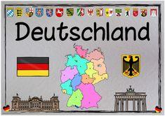 """Sachunterricht in der Grundschule: Themenplakat """"Deutschland"""""""