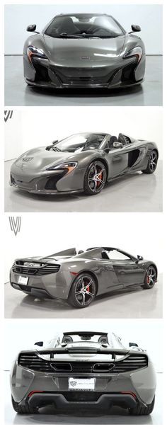 Drop dead gorgeous Storm gray McLaren 650S Spider