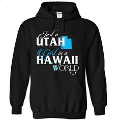 A UTAH-HAWAII girl Blue02 - #tshirt bemalen #turtleneck sweater. ORDER NOW => https://www.sunfrog.com/States/A-UTAH-2DHAWAII-girl-Blue02-Black-Hoodie.html?68278