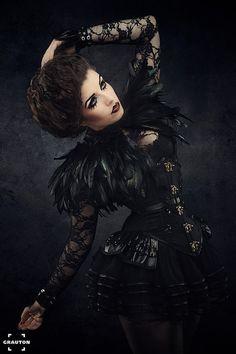 Model: La esmeralda Photographer: Heiner Seeman Fashion designer: Morgaine La chatte