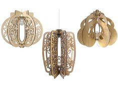 super-chic laser-cut designs are self-assembled without tools, and available as a feature pendant or in lamp format.