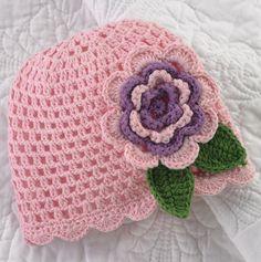 Crochet Flower Hat for Baby.