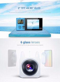 EKEN H8R Sport Action Camera DV VR 4K Ultra HD Dual Screen WiFi 2.4G Controller