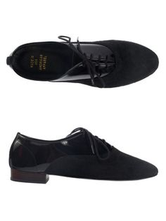 black patent leather bobby suede lace-up by American Apparel