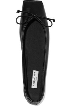 Balenciaga - Leather Ballet Flats - Black - IT40.5