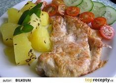 Šťavnatá vepřová kýta recept - TopRecepty.cz Potato Salad, Mashed Potatoes, French Toast, Food And Drink, Eggs, Chicken, Breakfast, Ethnic Recipes, Meat
