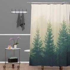 Chelsea Victoria Going The Distance Shower Curtain | DENY Designs Home Accessories