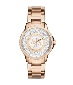 Armani Exchange AX4322 Rose Gold Stainless Steel Crystal Dial Ladies Watch | Your #1 Source for Watches and Accessories
