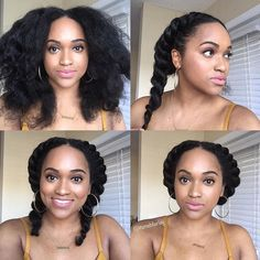 two flat twist pinned down protective natural hairstyles