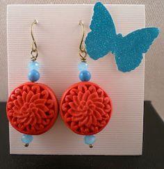 Cinnabar and Turquoise Earrings