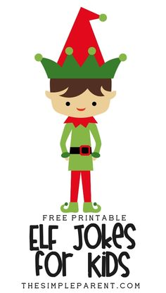 Get free printable jokes and share these Elf jokes with your family! Celebrate Christmas with a laugh or use them for your Elf on the Shelf!