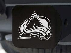 """NHL - Colorado Avalanche Black Hitch Cover 4 1/2""""x3 3/8"""""""