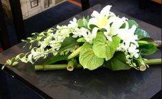 Corporate Flower Arrangement - Flowers for Everyone Table Flower Arrangements, Flower Arrangement Designs, Funeral Flower Arrangements, Beautiful Flower Arrangements, Funeral Flowers, Floral Centerpieces, Beautiful Flowers, Wedding Flowers, Centerpiece Ideas