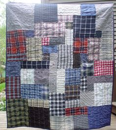 Memorial Quilt made from clothing