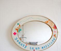 handmade mirror - by Jane Schouten, atlitw