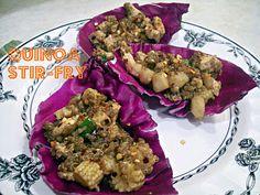 Quinoa Stir Fry Wedges