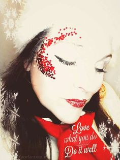 Christmas glitter makeup by Face Fantasy Makeup