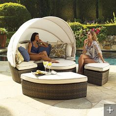 We went with this Baleares Bronze Modular Lounger, via Frontgate.com, and are really happy with it.