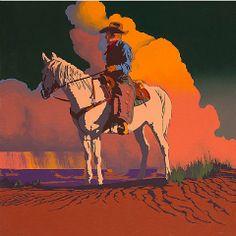 Bill Schenck - Late Rain on the Mesa. Oil on canvas