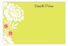 Personalized stationery is something every working woman should own. It comes in handy for leaving personal notes at the office and for writing quick thank you notes and reminders to yourself. Your stationery should reflect your creativity and personality Personalized Note Cards, Personalized Stationery, Floral Flats, Working Woman, Thank You Notes, Closer, Personality, Creativity, Polka Dots