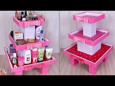 Hello everyone, In this video, we have shown a DIY organizer using cardboard. You can also try this cardboard craft i. Craft Tables With Storage, Craft Room Storage, Storage Ideas, Sewing Room Organization, Desktop Organization, Organizing, Cardboard Box Crafts, Cardboard Furniture, Wall Shelves Design