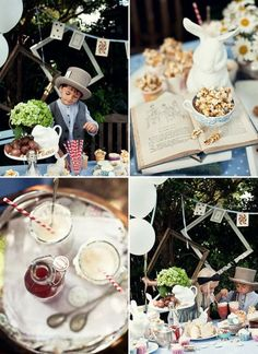 madhatter tea party… love the idea with the cards as decoration