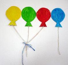 Faschingsgirlande Luftballons - Fasching-basteln - Meine Enkel und ich
