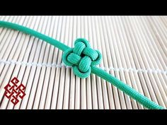 How to Tie a Chinese Clover / Four Leaf Clover Knot Tutorial - YouTube
