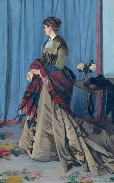 ⊰ Posing with Posies ⊱ paintings of women and flowers - Portrait of Madame Gaudibert - Claude Monet