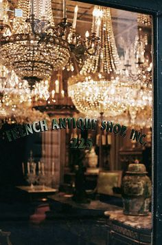Antique silver candlesticks country french pinterest vignettes we could play all day in this french antique shop in new orleans just look at those chandeliers aloadofball Choice Image
