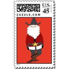 Hable Construction - Red Cowboy Santa Postage Stamp, $19.95 (http://shop.hableconstruction.com/gosluck-by-hable/red-cowboy-santa-postage-stamp/)
