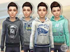 Hoodie for Boys Found in TSR Category 'Sims 4 Male Child Everyday'
