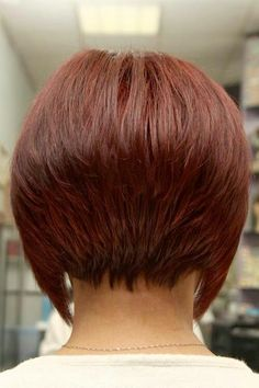 Hair style back view - I like this stacked look... not so much the long sides.