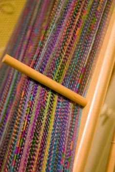 Weaving project. I like the colours in this.