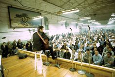 Johnny Cash at Folsom Prison, 1968. Gives me the chills every time I think about it.