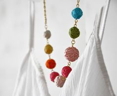 Bib NecklaceTextile Bubble Beads Hand Sewn by stellacreations, $36.00