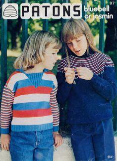 2 Boy Girl 1970s knitting patterns- vintage Australian - Instant download by TheBusyTipsyGipsy on Etsy