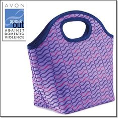 "Empowerment Lunch Tote Take your lunch to go in style! Keeps food cool or warm. Dimensions: 7"" W x 5"" H x 7"" D. http://jgoertzen.avonrepresentative.com/"