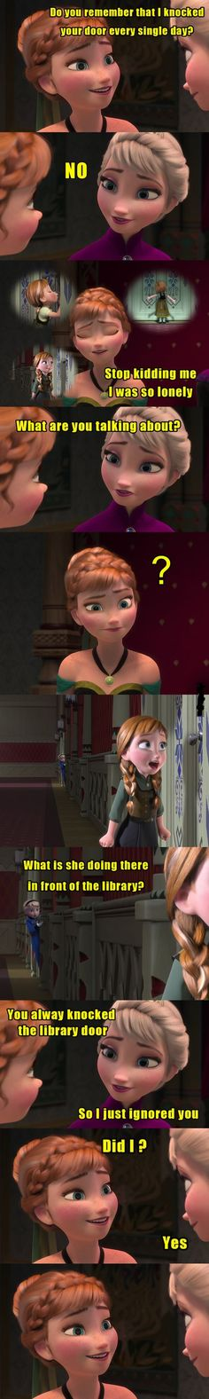 Anna: What i have done. Funny Frozen Picture Message - @mobile9 #disney