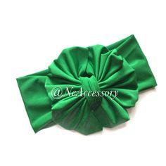 Bow Turban Baby Headband Big bow Head wrap Baby by NeAccessory