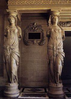 hadrian6: caryatides. Jean Goujon. Louvre museum. http:hadrian6.tumblr.com