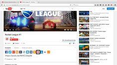 """Desde YouTube parte 2: aparecera este menu y le das al botón del icono de pinterest es decir el """" @ """""""