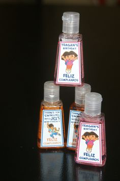 Dora the Explorer - Go Diego Go Hand Sanitizer Party Favor (5). $12.50, via Etsy.