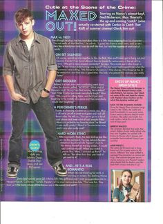 Max Thieriot, Full Page Pinup Clipping