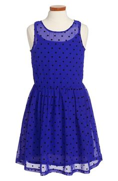 Free shipping and returns on Ruby & Bloom Sleeveless Dress (Big Girls) at Nordstrom.com. Velvety polka dots playfully accent a vibrant sleeveless dress styled with a full, gathered skirt.